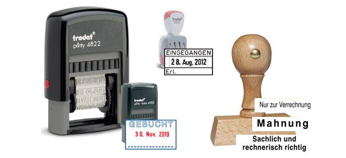 4 Stempel für den unterschiedlichen Gebrauch
